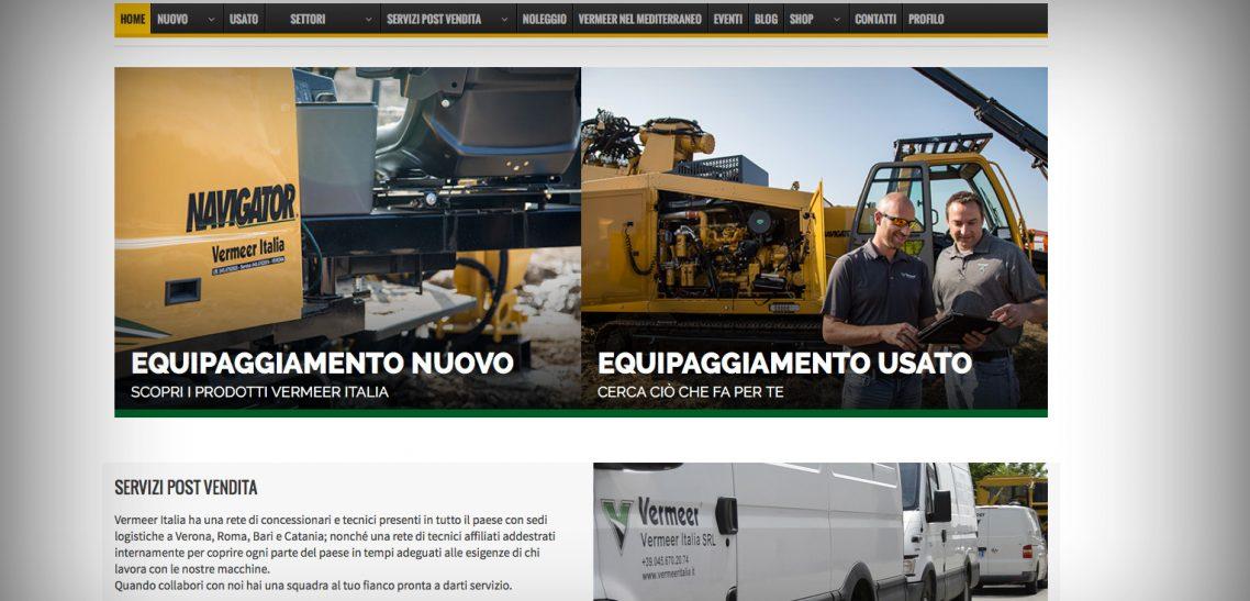 Nuovo sito web Vermeer Italia, una novità con un futuro Internazionale