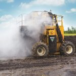 CT718 rivoltatore compost Vermeer - in azione