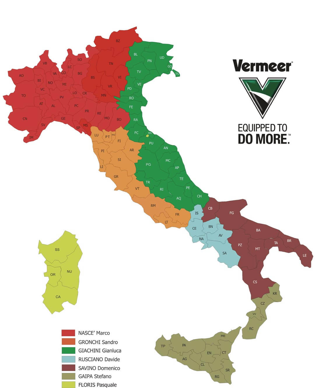 aree competenza commerciali vermeer italia